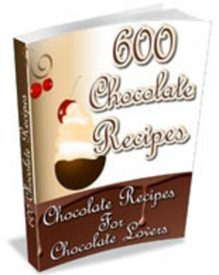 Product picture 600 Chocolate Recipes - Comes with Resale Rights/Article